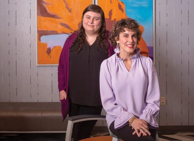 Clinical pharmacist Teagan Vaughn, left, and nurse practitioner Mimi Rivard at Equitas Health