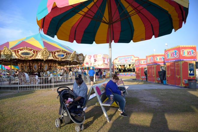People relax at the Lake County Fair back in 2019. The 2021 version of the Lake CountyFair opens Thursday with the opening ceremony at 4:50 p.m. at the main gate.