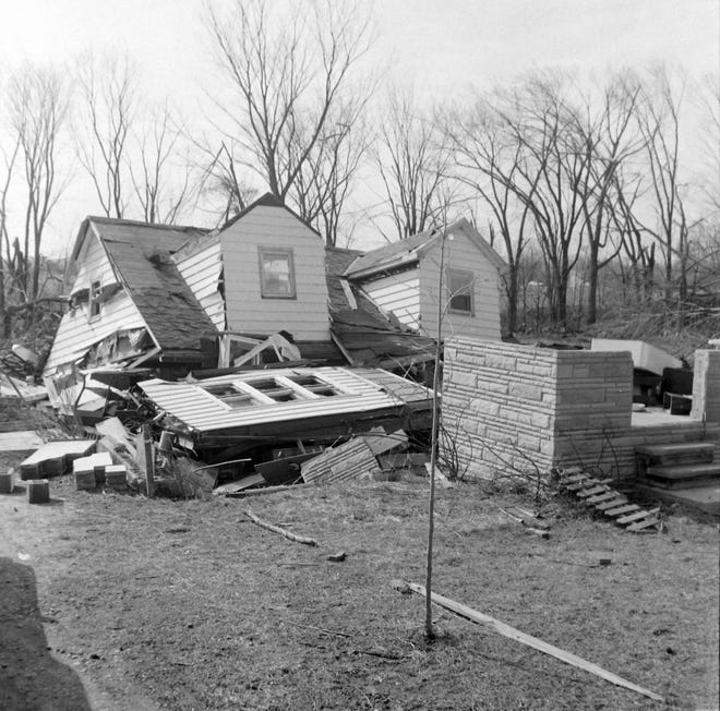 This home was located on the east side of Tipton Highway, south of M-50 before the 1965 Palm Sunday tornado destroyed it.