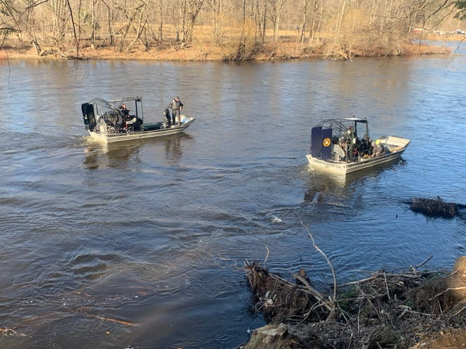 The New York State Police Underwater Recovery Team, K9, Special Operations Response Team and Drone Program and Aviation along with New York State Forest Rangers and the Newport Fire Department in a search for a Newport man who is believed to have fallen into the West Canada Creek and drowned.