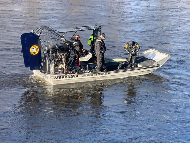 The search continued Monday morning for a town of Newport man believed to have drowned in the West Canada Creek.