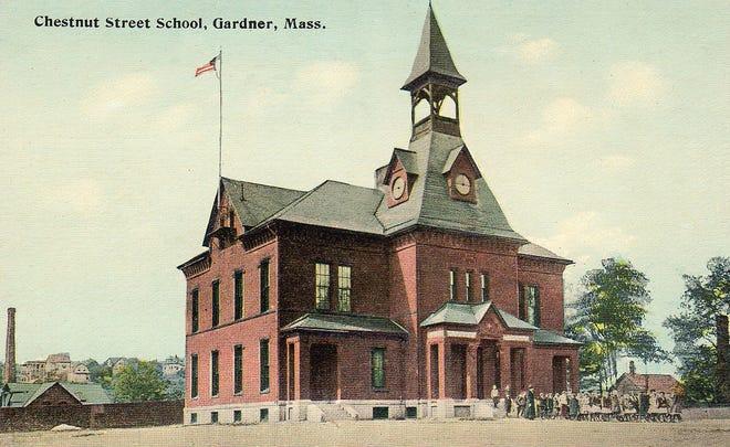 The second Gardner High School on Chestnut Street.