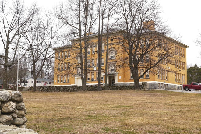 The former Gardner High School, now the Helen Mae Sauter building on Elm Street, which today is the Gardner Academy for Learning and Technology.
