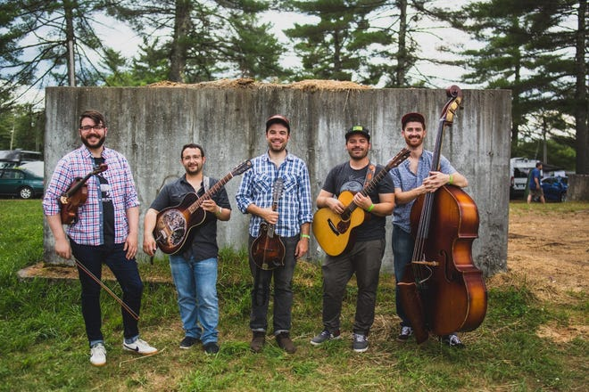 Grain Thief is a five-piece string band from Boston featuring Patrick Mulroy, guitar and vocals; Zach Meyer, mandolin and vocals; Michael Harmon, bass and vocals; Tom Farrell, lead guitar; and Alex Barstow, fiddle.