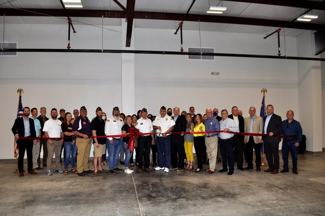 A large crowd was in attendance for the grand opening of the new VFW Post 3696 Hall.