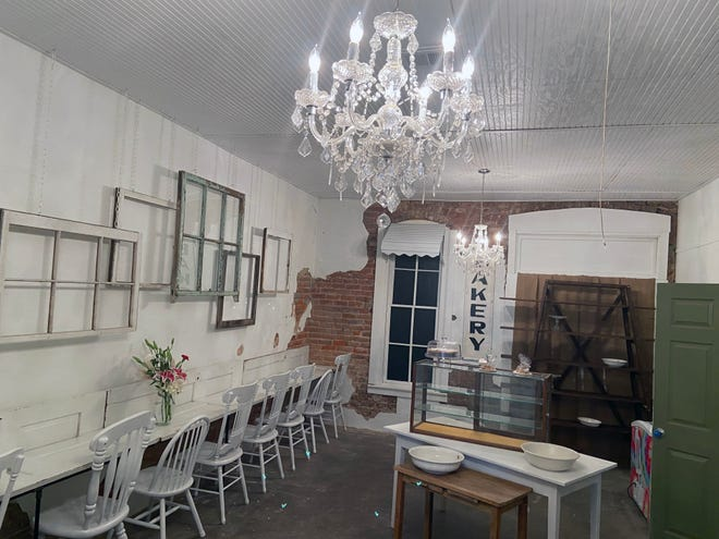 The Bake Sale room at Urban Junkie in Whitesboro offers seating for those who want to sit and at their sweet treat.