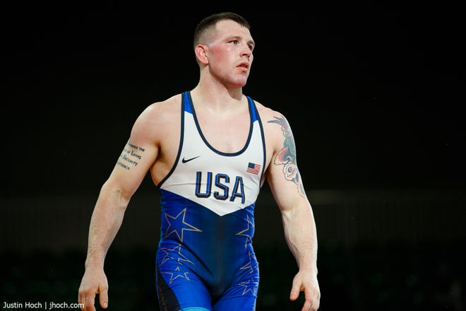 U.S. Marine Corps Staff Sgt. John Stefanowicz is set to compete in Greco-Roman wrestling at 87 kg for the United States in the Tokyo Olympics.