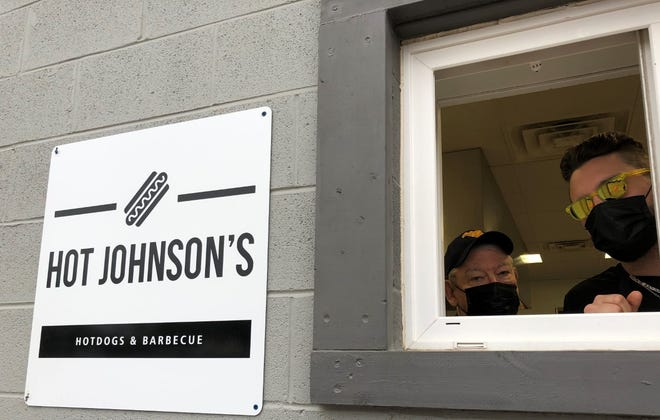 Jess and Justin Johnson welcome customers to Hot Johnson's, Ripley's newest carry-out restaurant.