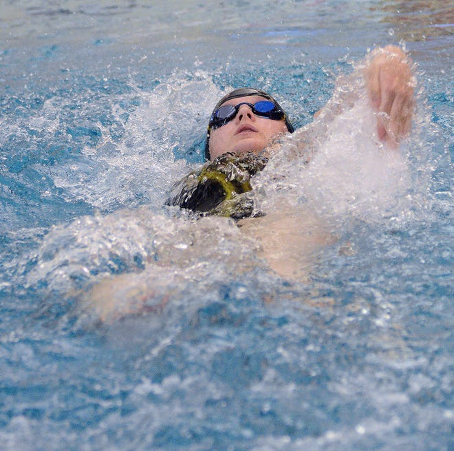 Newton High School swimmer Madison Horton qualified for state in the 200-yard individual medley and 500-yard freestyle Friday in the season opener at Wichita Heights.