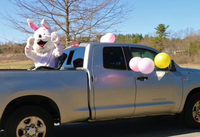 STERLING - The Easter Bunny hopped a ride to get through town on April 3. The weather was fine, and reports are all who saw him were pleased to view a harbinger of spring.