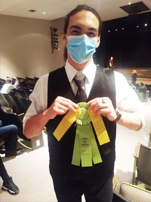 Las Animas High School's James Zook was named the best overall actor at the Otero Arts Festival.