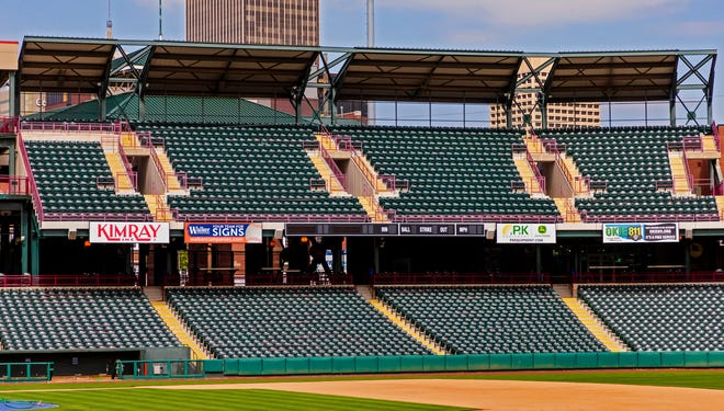 The upper deck will be open for all games  for fans to attend games this season at the Chickasaw Bricktown Ballpark in Oklahoma City, Okla on Monday, April 5, 2021. Single-game tickets for May/June games go on sale Tuesday.