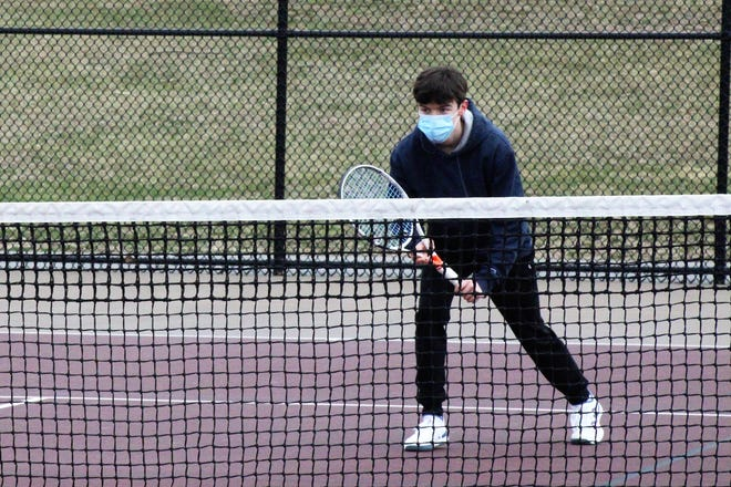Senior Ryan Porter, who plays No. 1 singles, hopes to end his boys tennis career at Portsmouth High School with a second straight Division II championship.