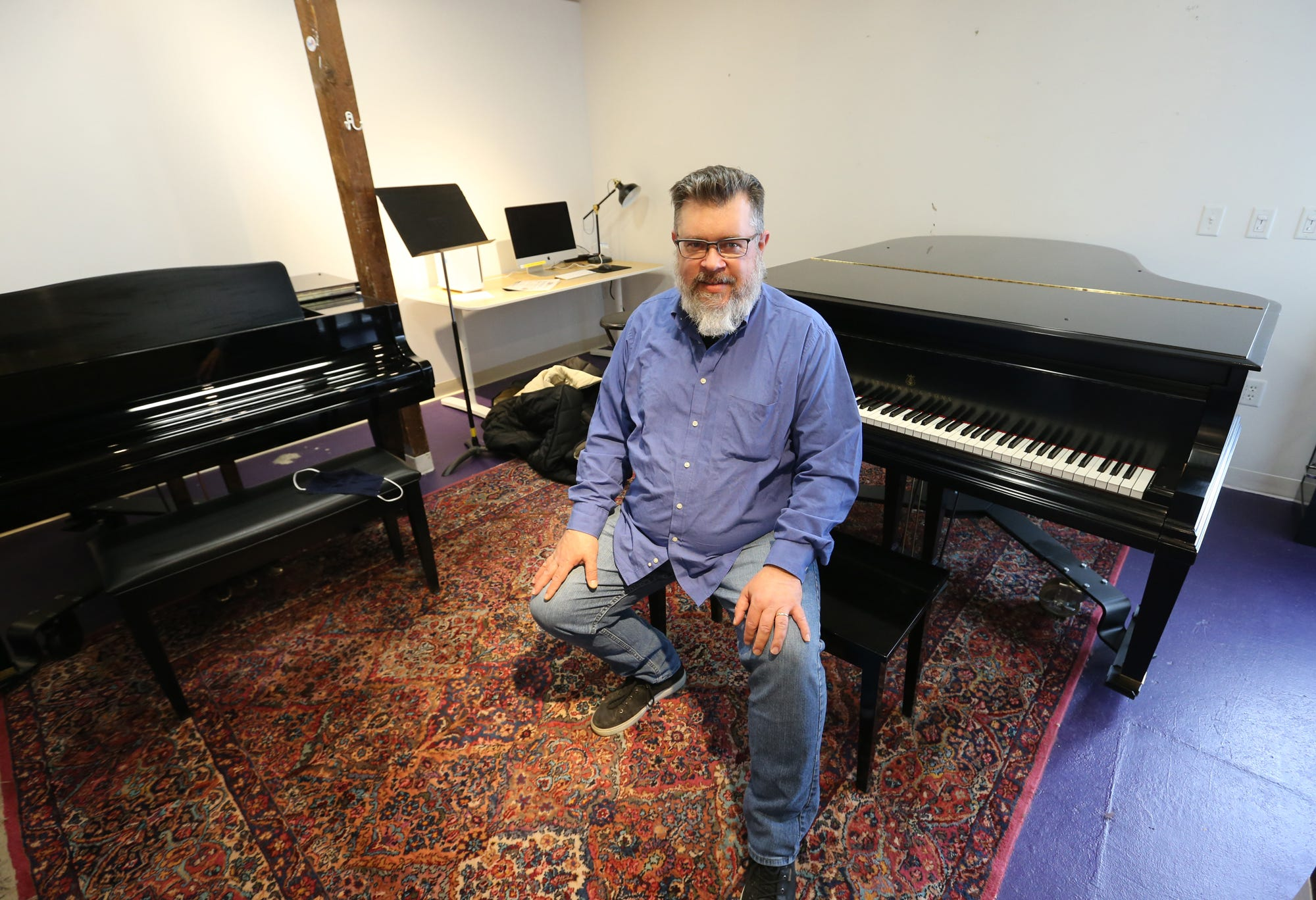 Russ Grazier, director of the New Horizons Band