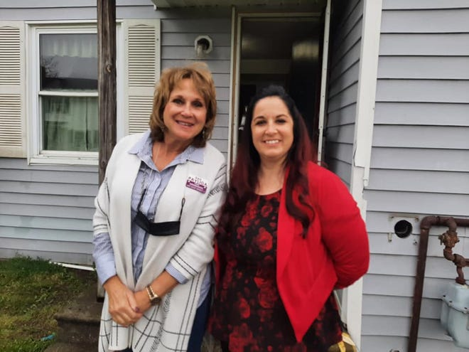 State Rep. Gail Pavliga recently visited with Ashley Holt, PCC program director at Hope Town Recovery in Windham.