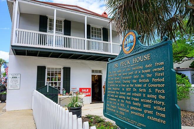 Peña-Peck House is on St. George Street in St. Augustine.