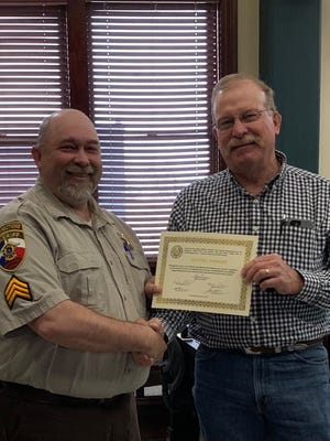 The Erath County Commissioners Court recently recognized employees for their years of service. ECSO Sgt. Jeff Wright was recognized for 20 years of service to the citizens of Erath County.
