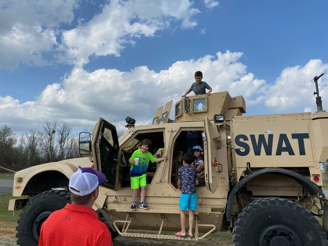 """The Huckabay Volunteer Fire Department hosted an Easter Egg hunting event on Saturday, March 27. The Erath County Sheriff's Office also participated. There was """"a great turn out and fun was had by all,"""" according to a social media post from the sheriff's office."""