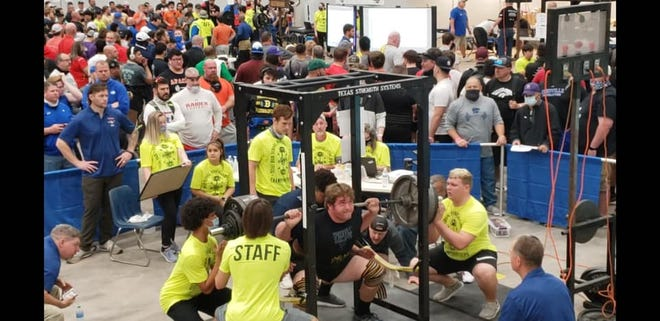 Stephenville High School's Logan Davis finished in eighth place at the boys powerlifting state meet held March 27 in Abilene. Davis lifted 600 in the squat, 335 in the bench and 600 in the deadlift.