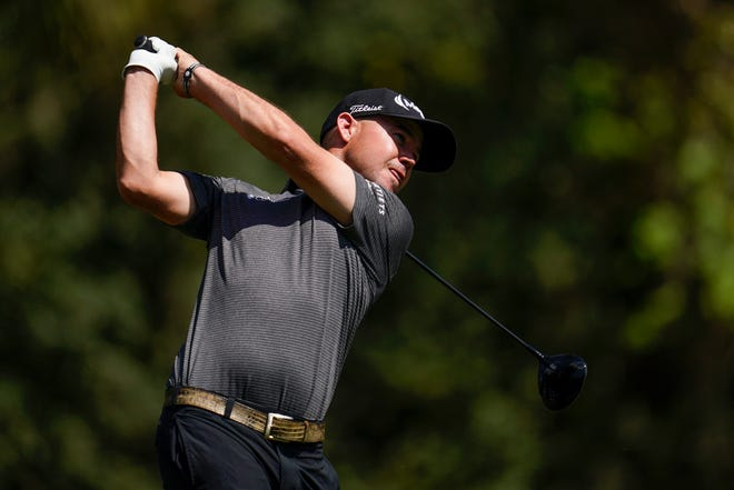 Brian Harman, a Savannah native, watches his tee shot on the second hole during the final round of The Players Championship on March 14, 2021, in Ponte Vedra Beach, Fla.