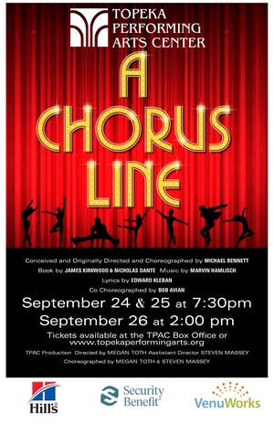 """A Chorus Line"" will hit the Topeka Performing Arts Center's stage Sept. 24-26."