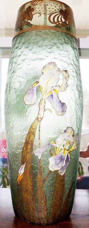 Collectors refer to the maker of this art glass vase as Legras Mont Joye. [Submitted photo]