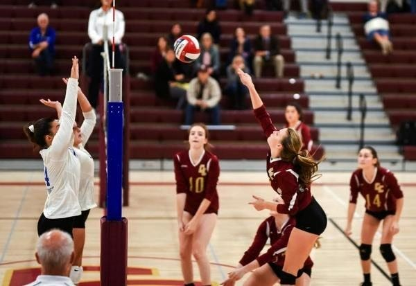 Concord-Carlisle's Corinne Herr (shown hitting in a 2019 match) has been one of many keys to the Patriots' undefeated start.