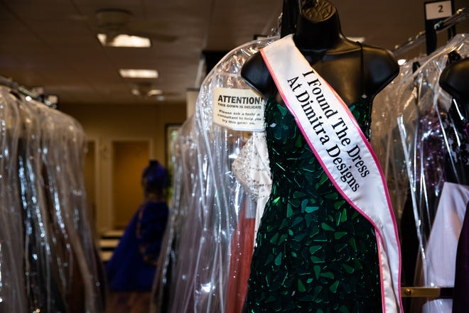 Prom dresses for sale at Dimitras Designs on Pleasantburg Drive in Greenville.