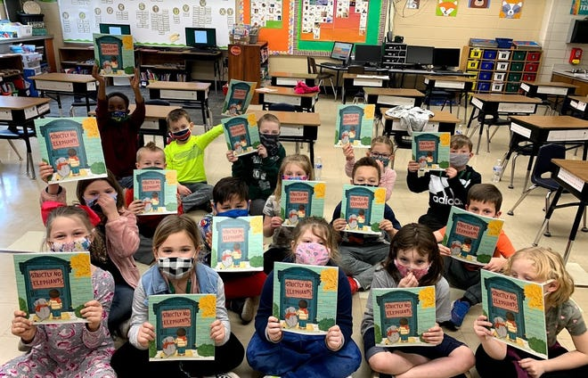 First graders in Richland County received a book from Richland Newhope during Developmental Disabilities Awareness Month.