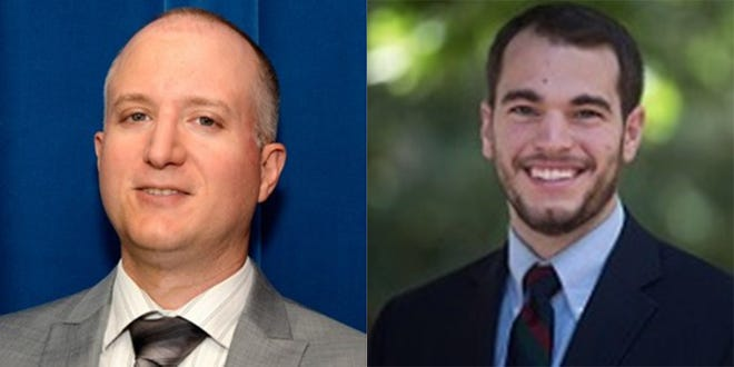 Edward Timmons, left, is director of the Knee Center for the Study of Occupational Regulation, and Conor Norris is a research analyst.