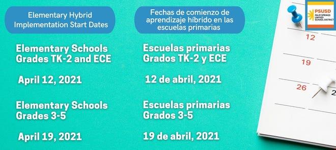 Elementary school dates
