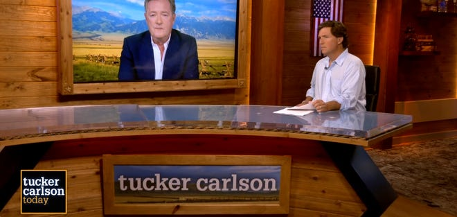 Piers Morgan appeared on Fox Nation's 'Tucker Carlson Today.'