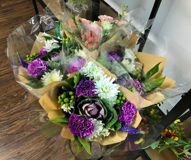 Bouquets at Bel Fiori Mercato in Marysville on April 5, 2021.