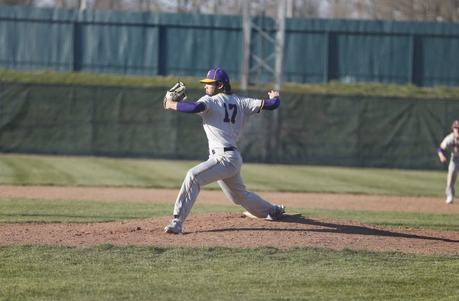 Hagerstown senior Dom Anderson pitched seven scoreless innings against Richmond at McBride Stadium on Friday, April 2.