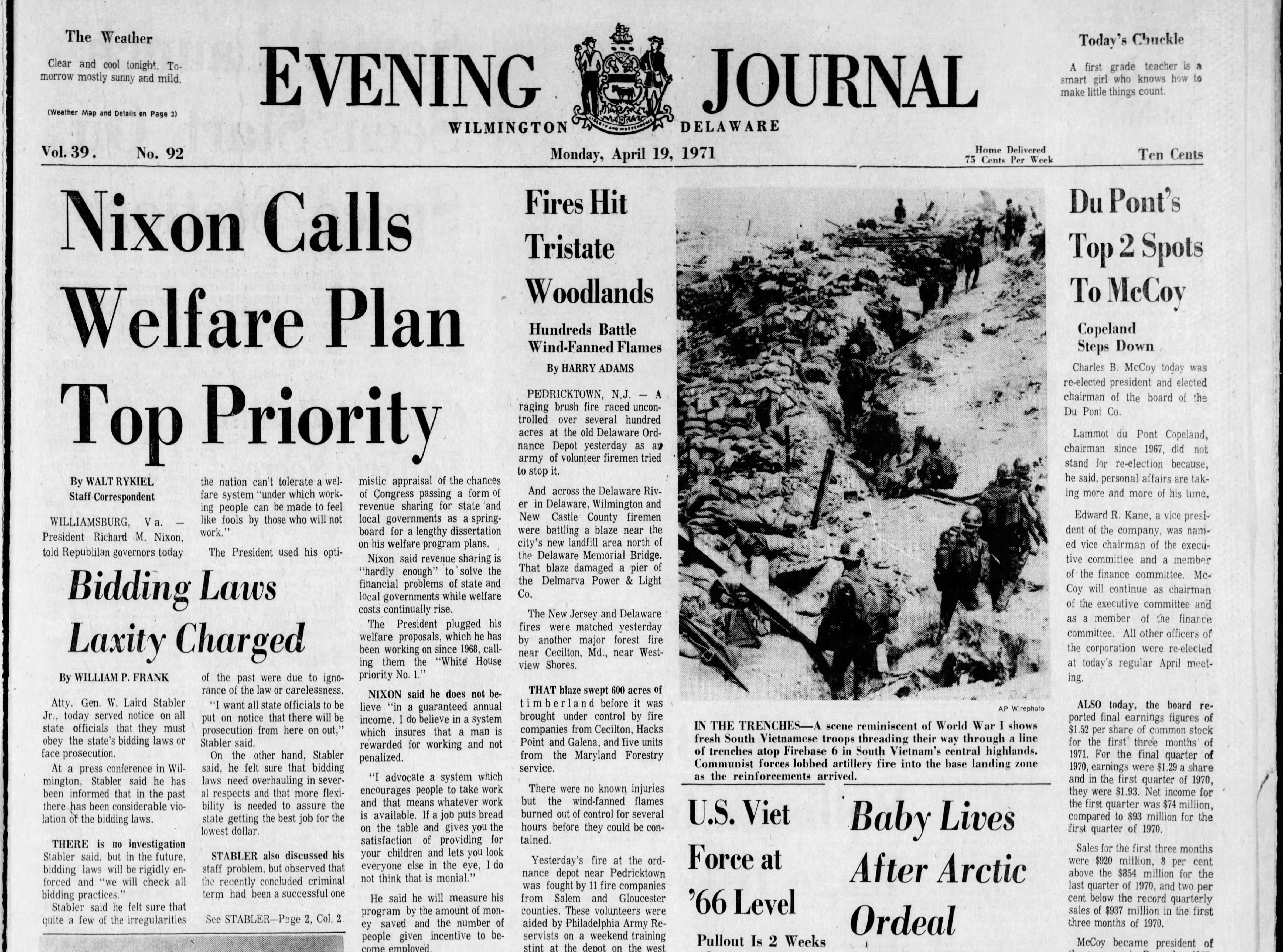 delawareonline.com - Ben Mace, The News Journal - Pages of history: From The News Journal archives, week of April 18