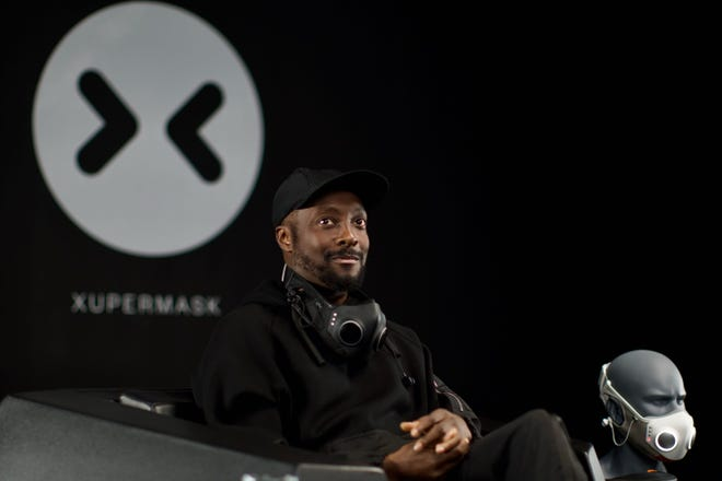 Musician Will.i.am, who is partnering with Honeywell to mass produce the Xupermask.