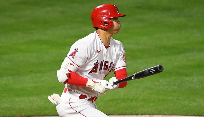 Shohei Ohtani turned heads in two-way fashion for the Angels on Sunday night.