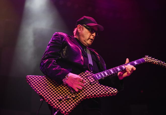 Rick Nielsen of Cheap Trick performs in Hershey, Pennsylvania, in 2017.