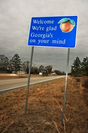 Georgia state welcome sign.