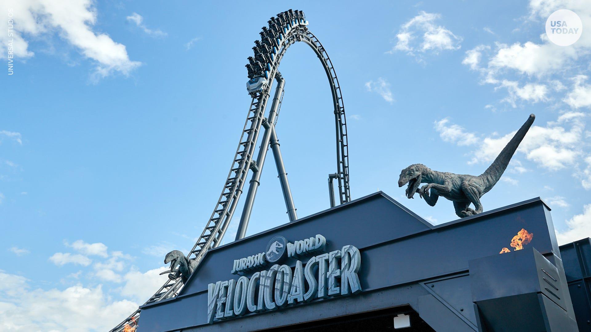 Race with dinosaurs in Universal Orlando's new Jurassic World VelociCoaster