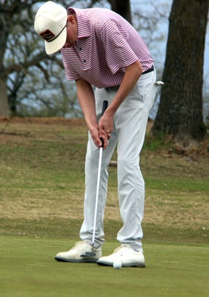 Ardmore's Ramsey Ward shot 79 for fifth on Monday at Lakeview Golf Course.