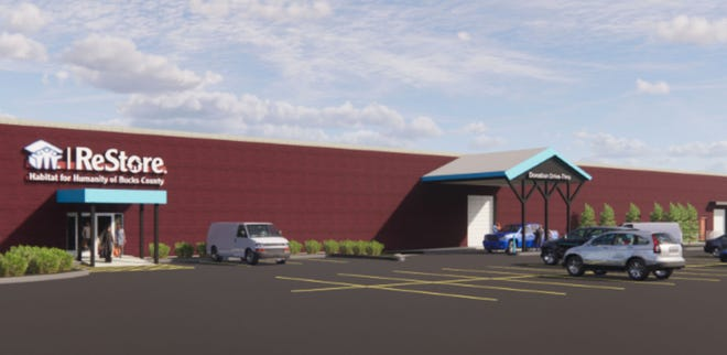 A rendering of the expanded ReStore planned for Warminster. This will be among the largest of more than 900 ReStores nationwide.