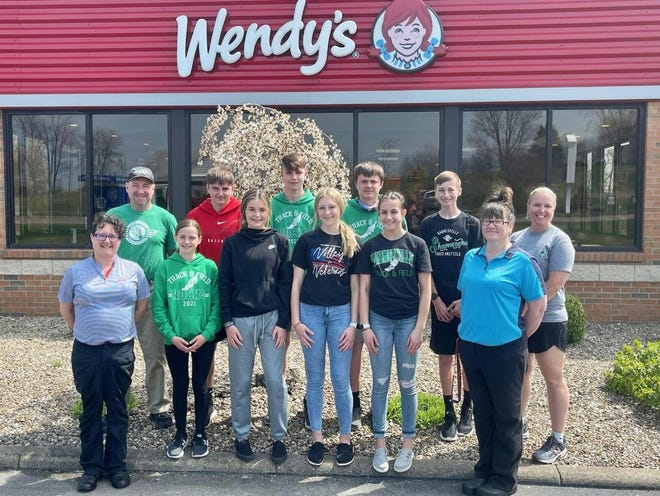 The Wendy's Junior High Relays are set for Saturday in Barnesville. Wendy's of Barnesville employees and Barnesville Junior High students are pictured prior to the meet.