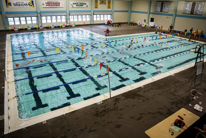 The Hickman pool, pictured here in 2018, is over 50 years old, and a study in 2014 recommended that the city pursue a competitive aquatic center to be used by schools, Parks and Recreation and the Columbia Swim Club.