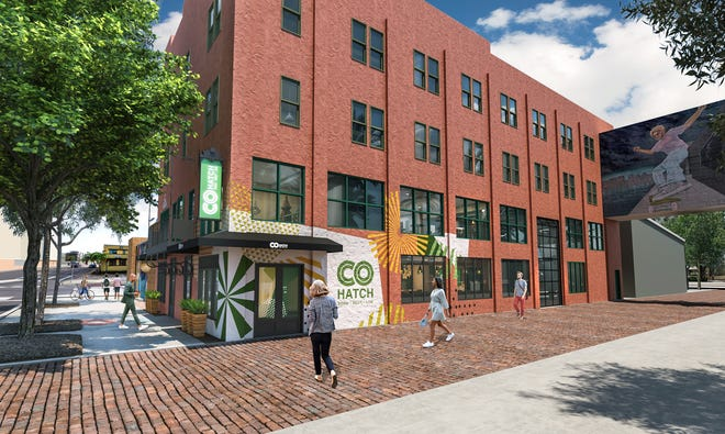 The Worthington-based firm COhatch plans to open three co-working centers in the Tampa, Fla., area, as seen in this rendering.