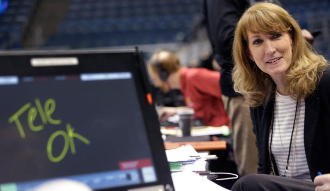 Debbie Antonelli, shown here in 2017, has built a reputation as the hardest-working basketball analyst in media.