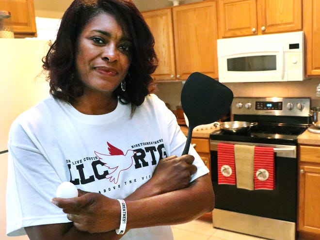 """Carmen Gray plans to host a virtual cooking event April 13 called """"Who Cracked My Egg?"""" in honor of her son Curtis Gray, who was gunned down in Palm Coast two years ago."""