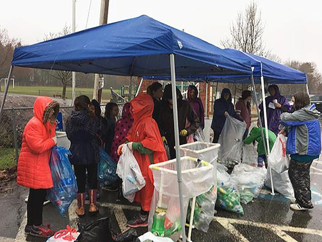 2019's Keep Hubbardston Beautiful event saw low turnout due to rain, but volunteers still managed to pick up about a ton of trash from the roads.