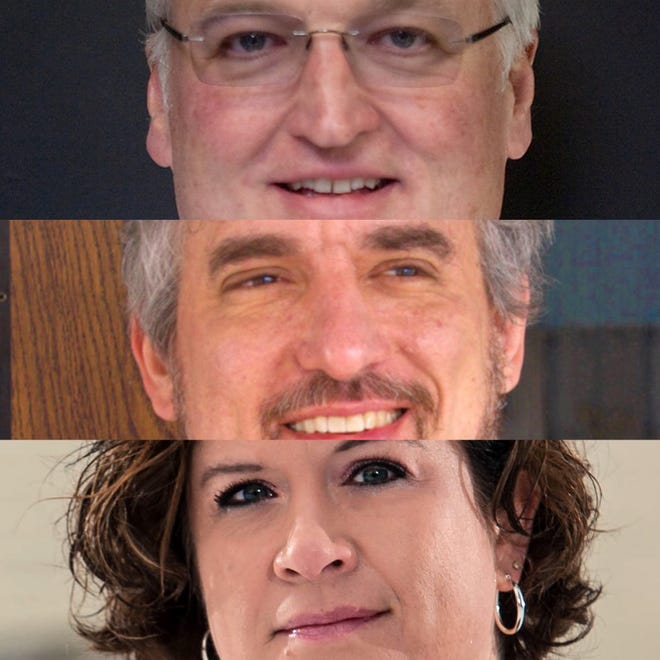 Galesburg candidates for mayor in 2021 are, from top, John Pritchard, Peter Schwartzman and Kristine Crow.