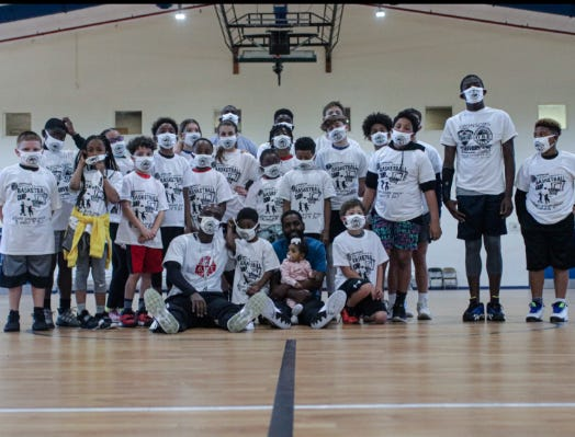 Many young athletes took part in the Good Friday Basketball Camp in Gonzales last week.